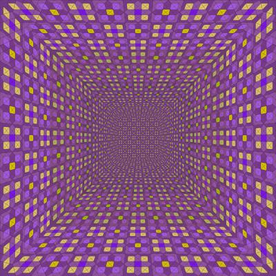 """Pattern Room with Diamonds and Squares, Violet"", 2015, Archival Inkjet Print, ed. of 3, 20 x 20"""