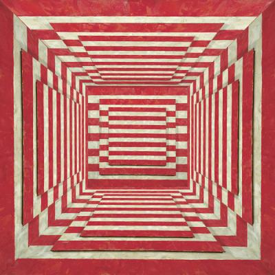 """Red Stripe Room"", 2016, Archival Inkjet Print, ed. of 3, 20 x 20"""