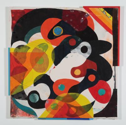 """04, 2018, acrylic on canvas, 55"""" x 53"""""""