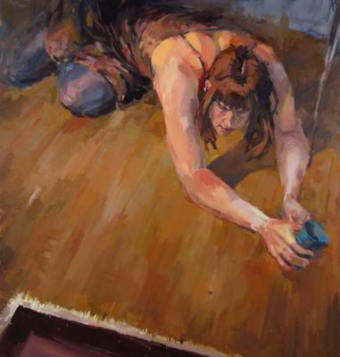 """Helen and the Spider"", 2010, oil on canvas, 38"" x 36"""