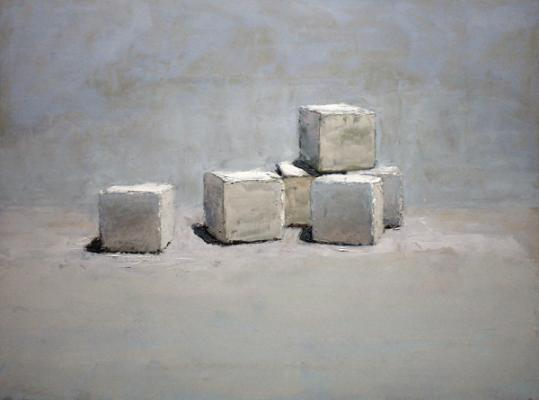 "Brian Blackham, ""Sugar Cubes"", 2016, oil on panel, 12 x 16"""