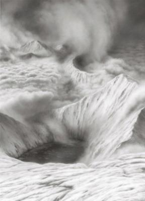 """Hilary Brace, Untitled (#August 08), 2008, charcoal on polyester film, 8.5 x 6"""""""