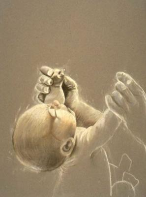 "Linda Thomas, ""Untitled"", charcoal on paper, photo credit: Mark Frey"