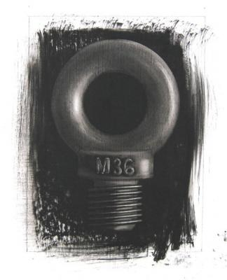 "Evelyn Woods, ""M 36"", 2011, charcoal on paper"