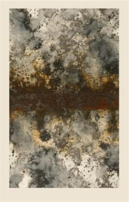 "Dale Lindman, ""Hard Rain"", 2010, gouache, ink and iron on paper"