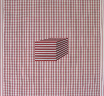 Block:Red and White Stripes Number 1