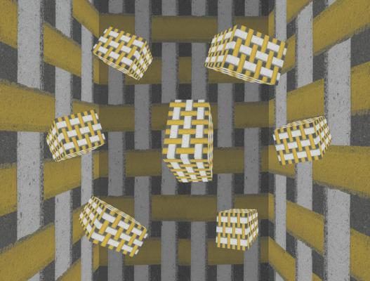 Seven Blocks: Yellow, White and Gray