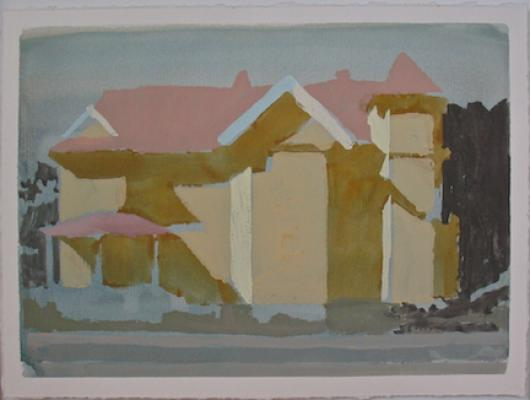 Michael Howard, 780 Gabler St.,2009, gouache on paper, 8.25x10.75""