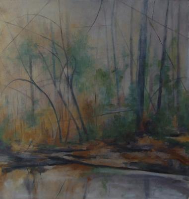 "Kimberly Clark, ""January Morning"", 2014, oil on paper, 20 x 15"""