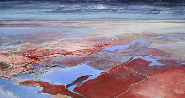 """Excavation #5"", 2010, oil on canvas,  48"" x 90"""