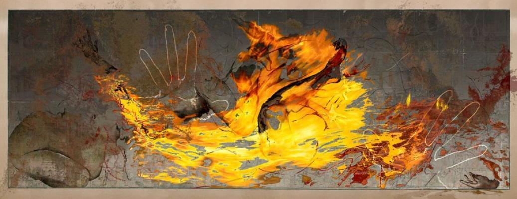"""Madonna Bomb 3"", 2012, archival pigment print, 37 x 96"""