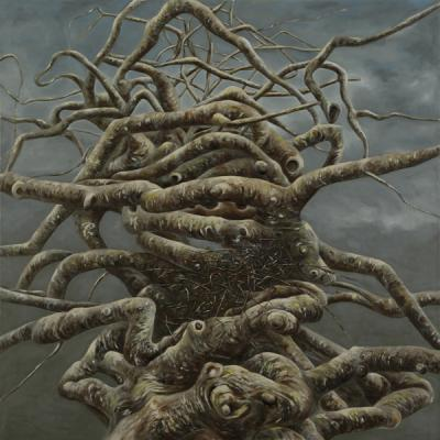 "Evelyn Woods, ""Twisted #2"", 2016, oil on canvas, 36 x 36"""