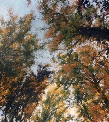 "Kimberly Clark, ""Paris Mountain"", 2016, oil on canvas, 27"" x 24"""