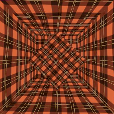 """Plaid Room with Diamond, Number 3"", 2014, archival inkjet print, ed. of 3, 20 x 20"""