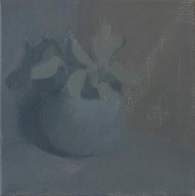 "Krisna Schumann, ""Gift Plant"", 2017, Oil on Canvas, 12"" x 12"""