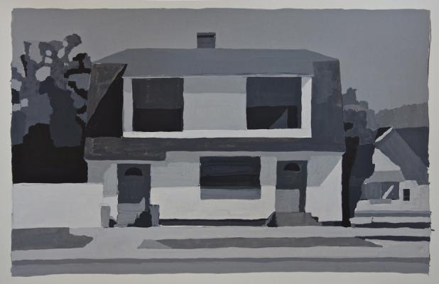 """782 West Billings"", 2013, acrylic ink on paper, 9.25 x 13"""