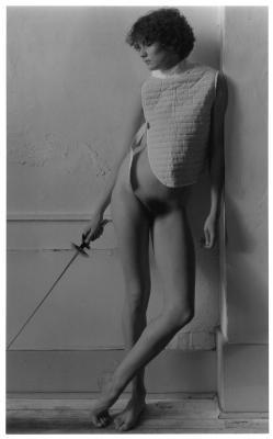 "Marsha Burns, 45276, 1980's, Silver gelatin print, 15"" x 13.25"" framed"