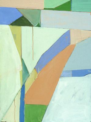 "Robert Perlman, ""Number 9"", 1996, acrylic on paper, 30 x 22"""