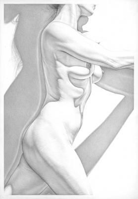 """Robert Schultz, """"Passage"""", 2015, silverpoint, 10"""" x 7"""""""