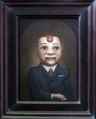 "Peter Zokosky, ""Buddy Nichols"", 2014, oil on canvas, 11"" x 8"""
