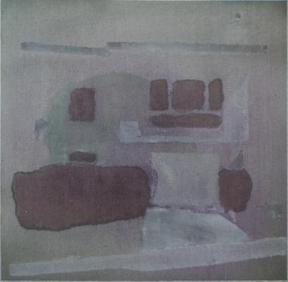 """1064 Mirada"", 2014, acrylic on canvas, 10.5 x 10.5"""