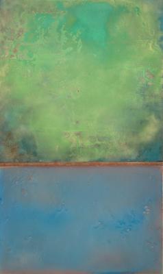 """Dale Lindman, """"Submerged"""", 2010, mixed media, 61.5 x 37"""""""