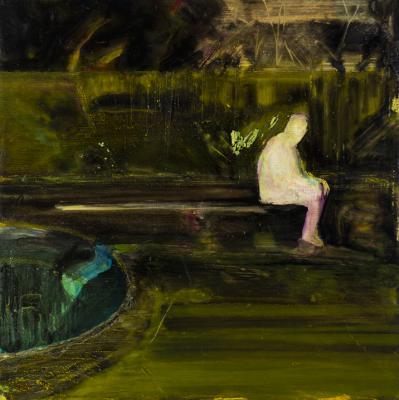 "Absent Presence, 2017, oil on linen, 24 x 24"""