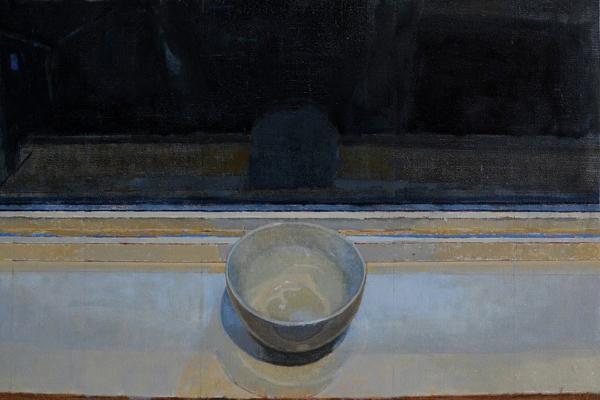 """Amy Huddleston, """"Night Cup"""", 2015, oil on linen, 14 x 20.5"""""""