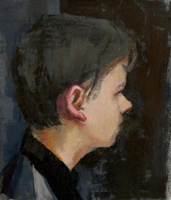 "Stephen, Profile #3"", 2015, oil on linen, 11 x 9"""