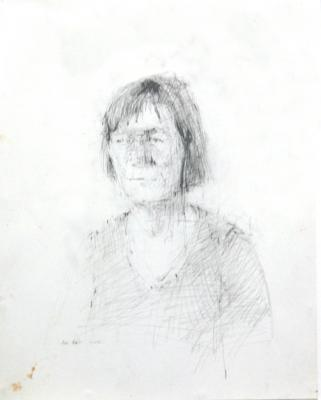 """Babs"", 2005, graphite on paper, 14"" x 11"""