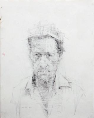 """Gary"", 2005, graphite on paper, 14"" x 11"""