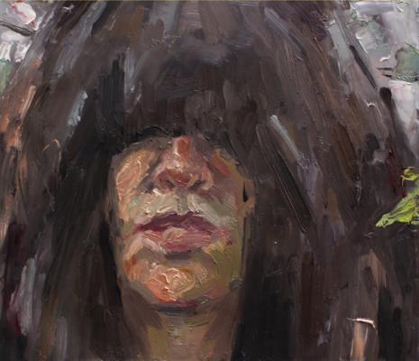 """Future Unclear"", 2017, oil on vellum, 7.75"" x 8.75"""