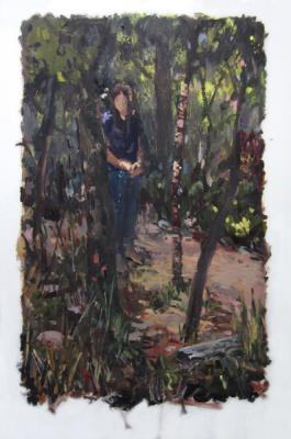 "Anne Petty, ""In Nature"", 2015, oil on vellum, 26"" x 23.5"""