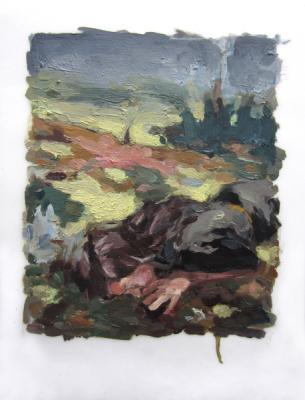"Anne Petty, ""Landscape"", 2013, oil on vellum, 11 x 9"""
