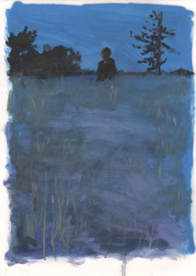 "Anne Petty, ""Midnight Meditation"", 2015, oil on vellum, 12"" x 9"""