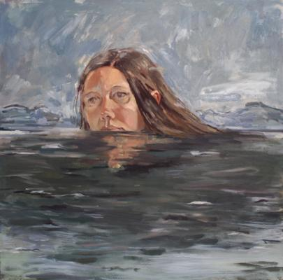 """Water"", 2017, oil on canvas, 30"" x 30"""