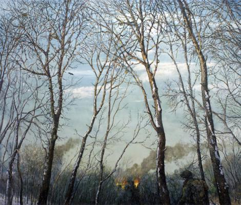 """Chester Arnold, """"Winter 1916"""", 2010, oil on linen, 46 x 56"""""""