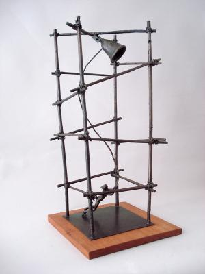 "Phillip Levine, ""Bell Tower"", 2000, Bronze, 28.5"" x 14"" x 14"""