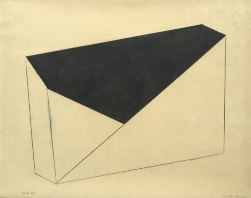 "Robert Maki, "") Black Top"", 1981, graphite on vellum, 19 x 24"""