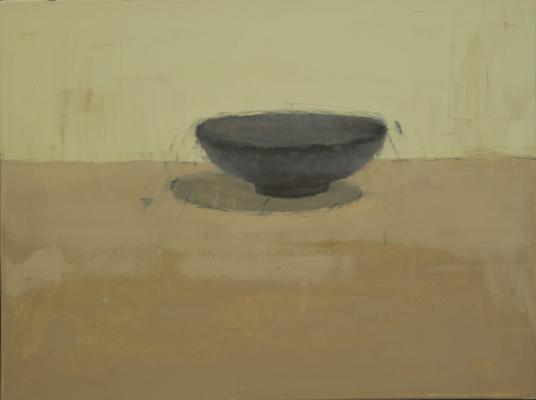 "Brian Blackham, ""Bowl Like"", 2014, oil on panel, 12 x 16"""