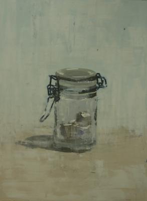 "Brian Blackham, ""Glass, Sugar Cube"", 2014, 46 x 34"""