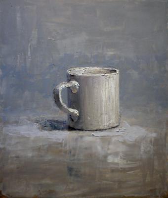 "Brian Blackham, ""A Cup"", 2015, oil on panel, 16 x 12"""