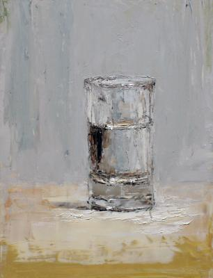 "Brian Blackham, ""Morning Glass"", 2014, oil on panel, 11 x 8.5"""