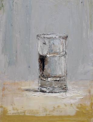 """Brian Blackham, """"Morning Glass"""", 2014, oil on panel, 11 x 8.5"""""""
