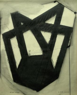 """Robert Maki, """"Brides Option"""",1985, graphite on vellum, 24 x 19"""""""
