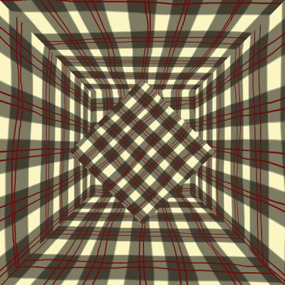 "David Brody, ""Plaid Room with Diamond #1"", 2014, archival digital print, 20 x 20"""