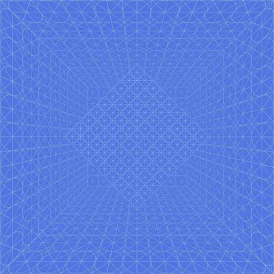 "David Brody, ""Blue Circle Gridded Room"", 2014, archival inkjet print, 20 x 20"" image"