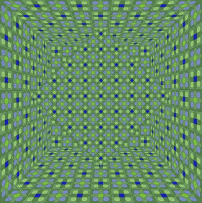 """Pattern Room with Diamond, Number 2, Green"", 2014, archival inkjet print, ed. of 3, 20 x 20"""