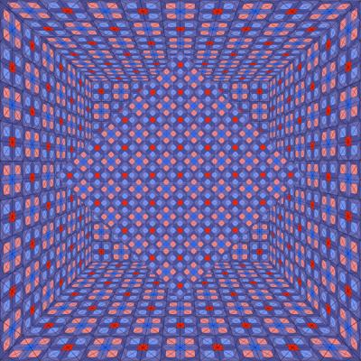 """""""Pattern Room with Diamond, Number 1, Violet"""", 2014, archival inkjet print, ed. of 3, 20 x 20"""""""
