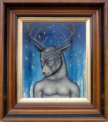 "Fred Stonehouse, ""Buck"", 2011, acrylic on panel, 16.5"" x 14.5"""